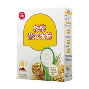 伊威核桃营养米粉250g(辅食添加初期至24个月婴幼儿适用) 冰糖配方 不易上火