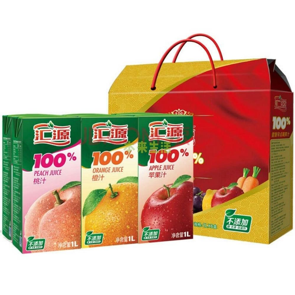 汇源果汁官网_汇源果汁礼盒(桃汁,橙汁,苹果汁各2盒)1l*6【行情